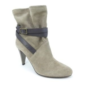 Hugo Boss Orange Label Suede Heeled Slouch Boots